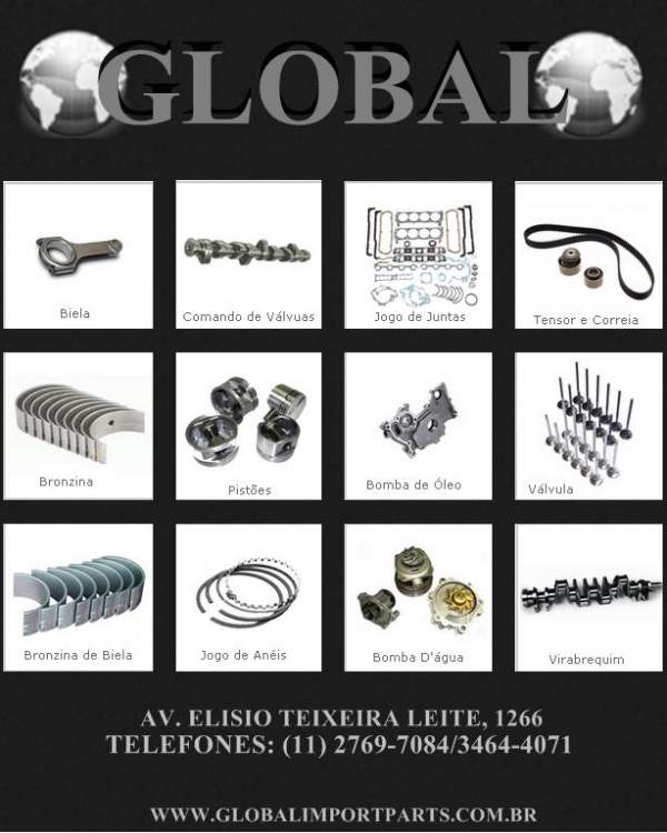 Global comercio de peças automotivas e ferragens