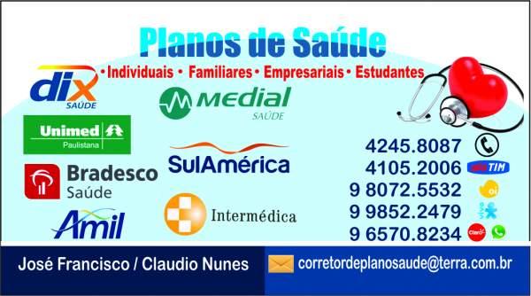 Planos de saude empresariais familiares sulamerica, bradesco