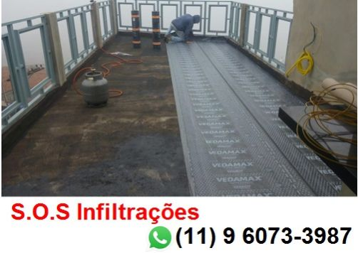 S.o.s infiltrações, impermeabilização de lajes, telhados, paredes e piscina.