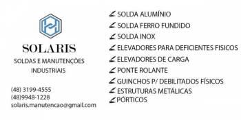 Solaris soldas e manutenções industriais. Guia de empresas e serviços