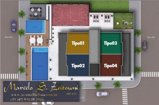 Apartamento com 2 Dormitórios à venda, 78 m² por R$ 544.870,00