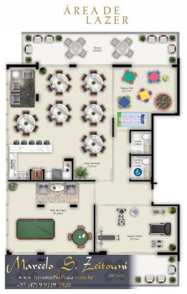 Apartamento com 2 Dormitórios à venda, 89 m² por R$ 527.719,00
