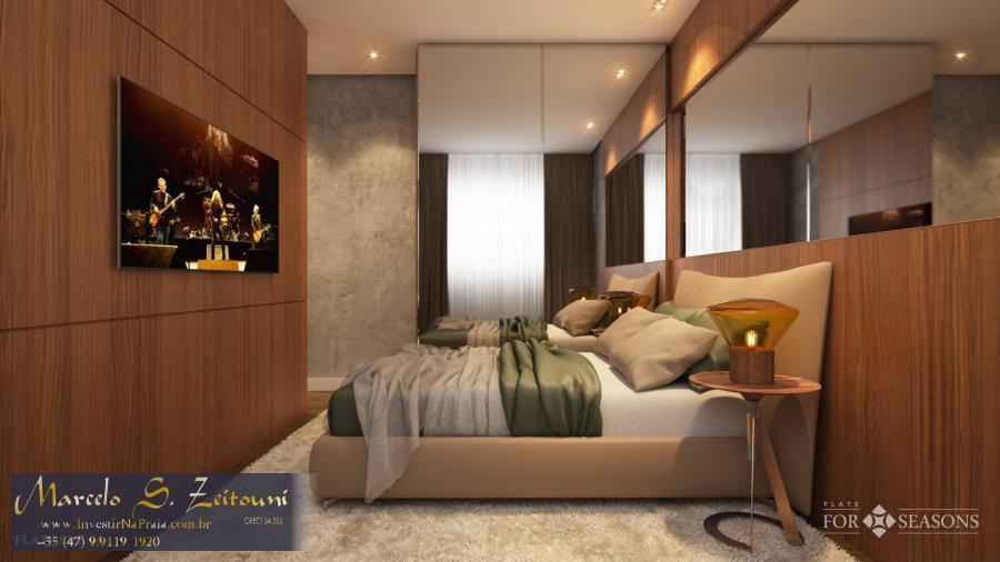 Flat com 1 Dormitórios à venda, 48 m² por R$ 400.833,00